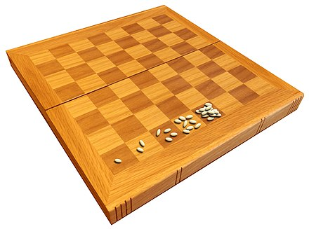 Chessboard and wheat problem